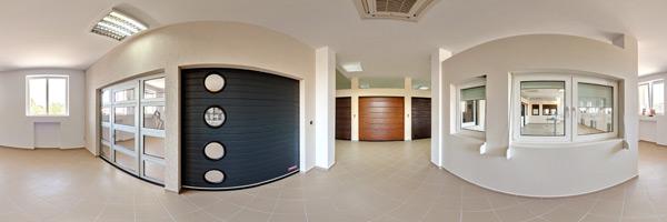 Tur virtual zonă de usi secționale industriale si TermoStoruri aplicate Unibox Plus, vedere din interior