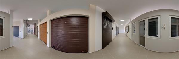 Tur virtual zonă de usi secționale rezidentiale si TermoStoruri aplicate Outbox, vedere din interior